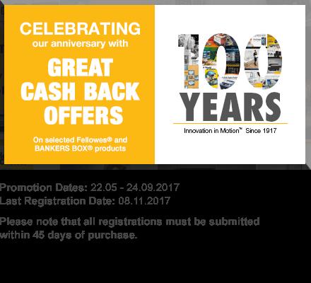 Fellowes 100 year cash back